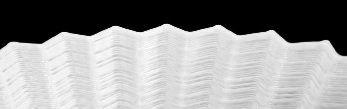 Utskrift där man tydligt ser ränder