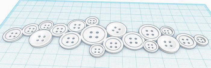 3d-modell av knappar